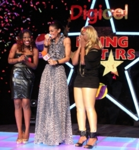Brown Sugar at the moment she heard that she is the 2009 Digicel Rising Star.