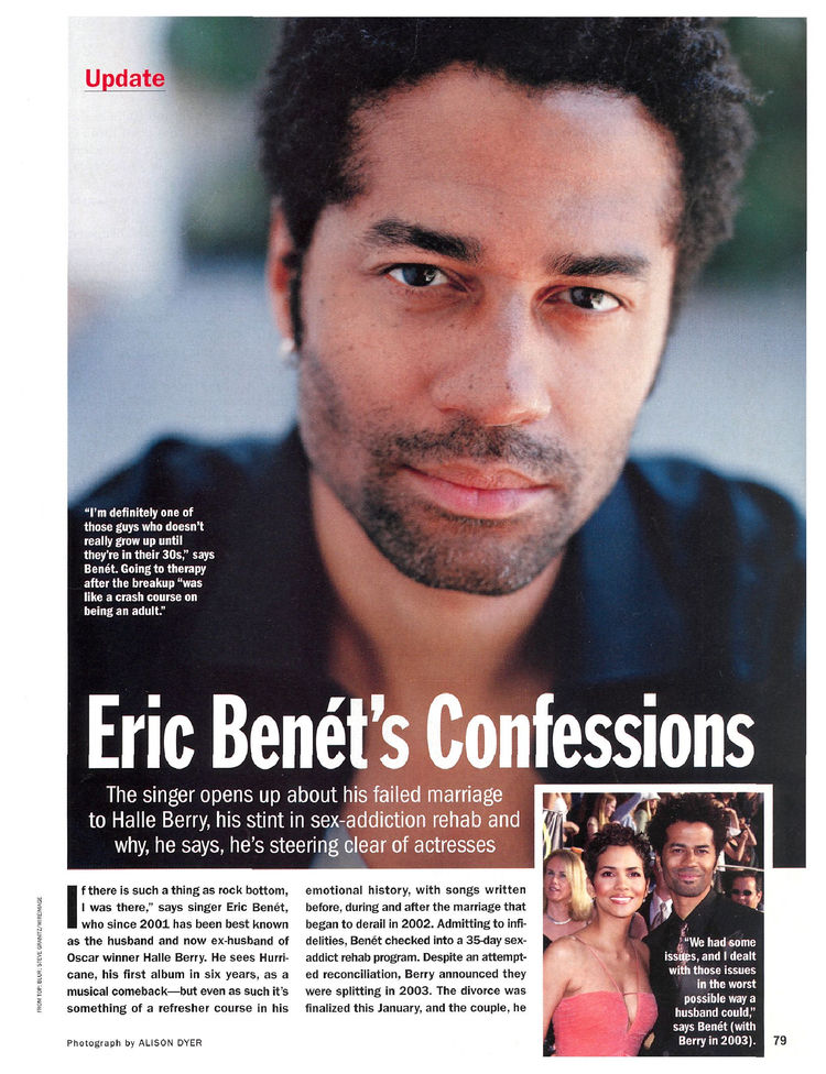 One of the things was the possibility of sex rehab, and we know Hollywood  isn't a stranger to this, after all Halle Berry ex-husband Eric Benét got  added ...