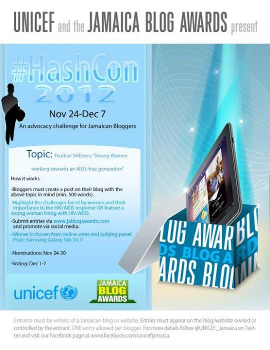 #HashCon 2012: An Advocacy Challenge for Jamaican Bloggers by UNICEF Jamaica